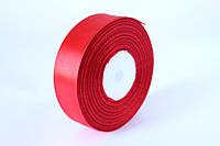 Атласная лента 2,5 см, 36 ярд (около 33 м), красного цвета оптом