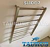 Нержавеющий полотенцесушитель с перемычкой под углом 30 градусов - Slide 7/500 мм. Taurus. Украина, фото 2