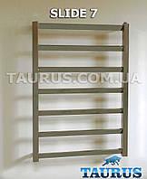 Нержавеющий полотенцесушитель Slide 7 /750*500 мм. с перемычкой под углом 30 градусов. Плоская труба. Украина