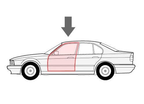 Корпус ролика склопідіймача ліва двері Renault Megane 2 (Рено Меган 2), фото 2