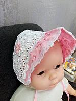 Кружевные чепчики и панамки для новорожденных