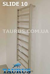 Высокий нержавеющий полотенцесушитель Slide 10/1050x500 мм с наклонными перемычками. Украина