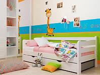 Односпальні деревяні ліжка