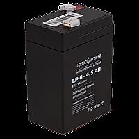 Свинцово-кислотный аккумулятор AGM  LogicPower LP 6v-4.5 AH для весов