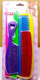 Набор цветных  расчёсок на листе, 6шт/уп, фото 2