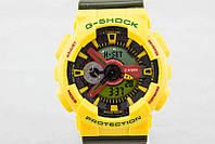 ТОП сезона ! Спортивные мужские часы Casio G-shock GA-110 YELLOW-KHAKI  (касио джи шок)
