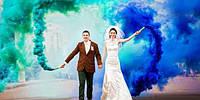 Ручний кольоровий дим синій (звичайної насиченості (дім11)), димова шашка, кольоровий синій дим