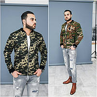 Мужская коттоновая куртка-бомбер №М20 (р.48-54)