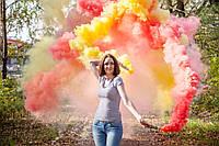 Ручний червоний  кольоровий дим звиайної насиченості(дим11), димові шашки, Цветные дымовые шашки
