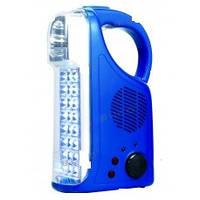 Ліхтарик акум WATO WT-293 24+3led +FM 6V 2AH