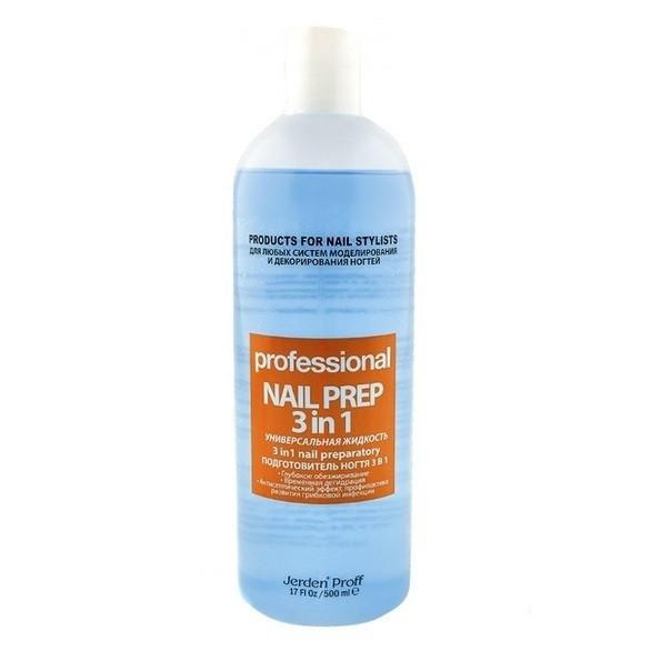 Подготовитель ногтя 3 в 1 Nail Prep Jerden PROFF 500 мл
