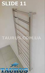Узкий полотенцесушитель с угловой перемычкой 30х10 - Slide 11 /1150х400. Плоские формы перемычки и стойки