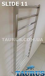 Полотенцесушитель из плоских, развёрнутых труб - Slide 11 /1150х450 мм. Водяная, электро и комбинированная