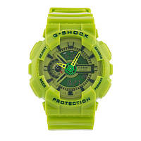 ТОП сезона ! Спортивные мужские часы Casio G-shock GA-110 LIME  (касио джи шок)
