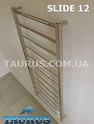 Дизайнерский полотенцесушитель Slide 12/1250х450. Водяной, электро, гибридный. Развёрнутые перемычки