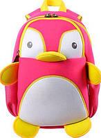 Вместительный рюкзак Пингвин из неопрена на 7 л. Nohoo NH011-1, розовый