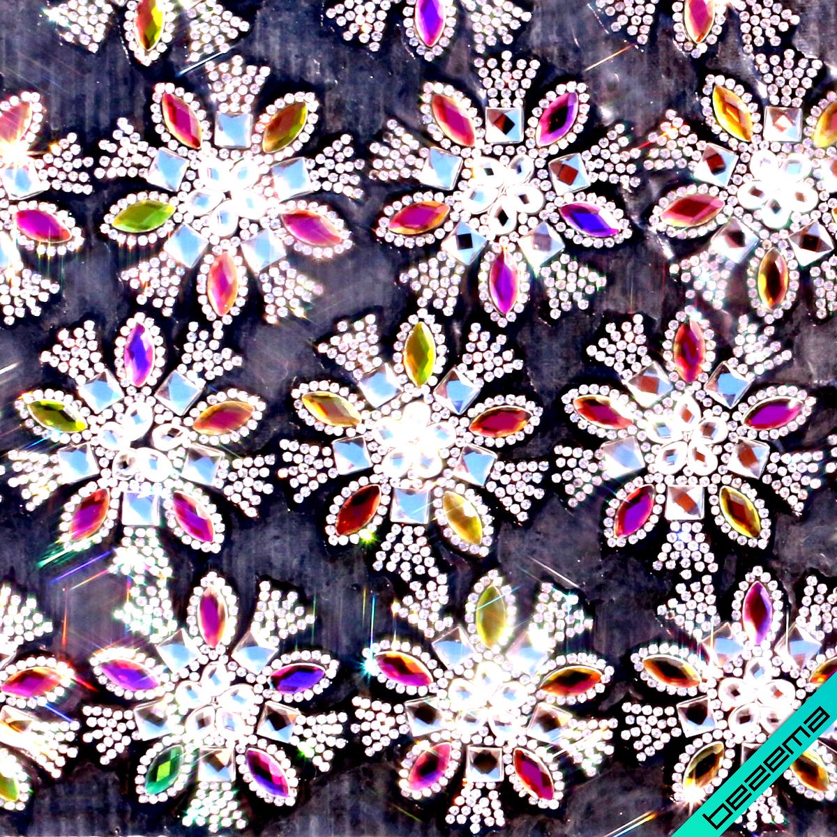 Дизайны из страз на силиконе, декор для одежды Цветок