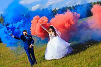 """Цветной дым Синий (найнасиченіший(дим13), цветной дым димова шашка, ТМ """"Jorge"""", Польща, 60 сек."""