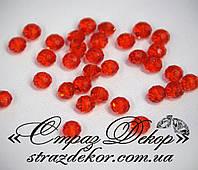 Хрустальные бусины рондели 6*4мм Siam (красные), фото 1