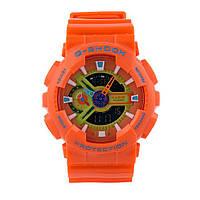 ТОП сезона ! Спортивные мужские часы Casio G-shock  ga-110 Оrange  (касио джи шок)