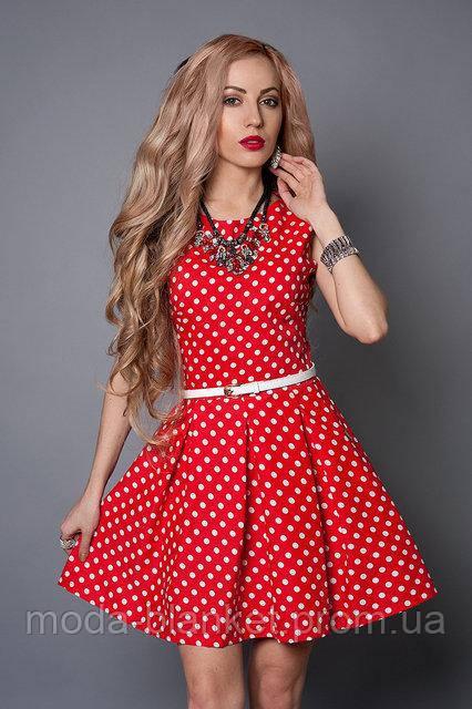 Красивое платье красное с белым