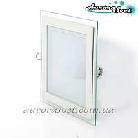 Точечный светодиодный светильник AR2-6W Glass-Квадрат 4000/3000 K (Стекло). LED точечный светильник.