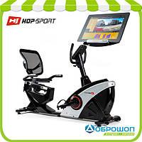 Горизонтальный велотренажер Hop-Sport HS-070L Helix iConsole+ silver