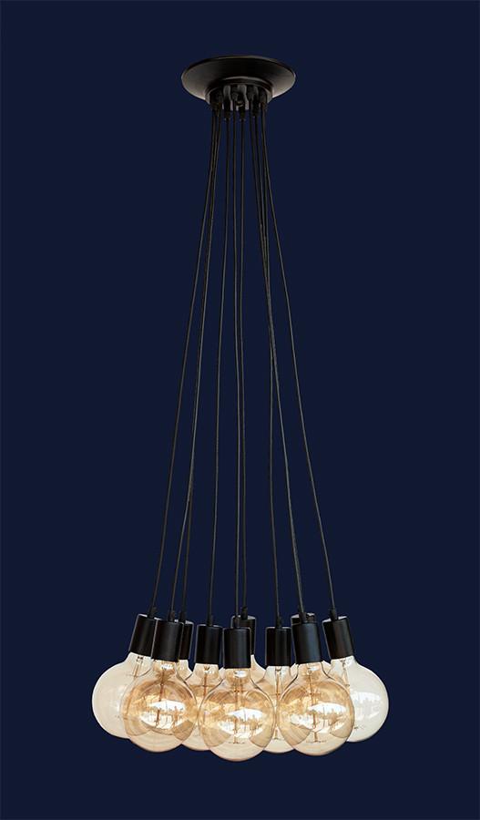 Люстра-паук в стиле LOFT на 8 ламп L527120-8 BK