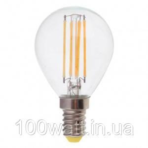 Лампа светодиодная прозрачная LED  E14 6500K 6W шарик ST693