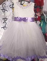 Платье для девочки с красивым атласным поясом  2107\25
