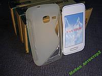 Capdase силиконовый чехол Samsung S5380 с пленкой белый