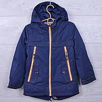 Куртка детская демисезонная Fashion#16В-13 для мальчиков. 92-116 см. Темно-синяя. Оптом., фото 1