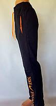 Штаны спортивные трикотажные под манжет - юниор 46 размер зеленый принт, фото 3