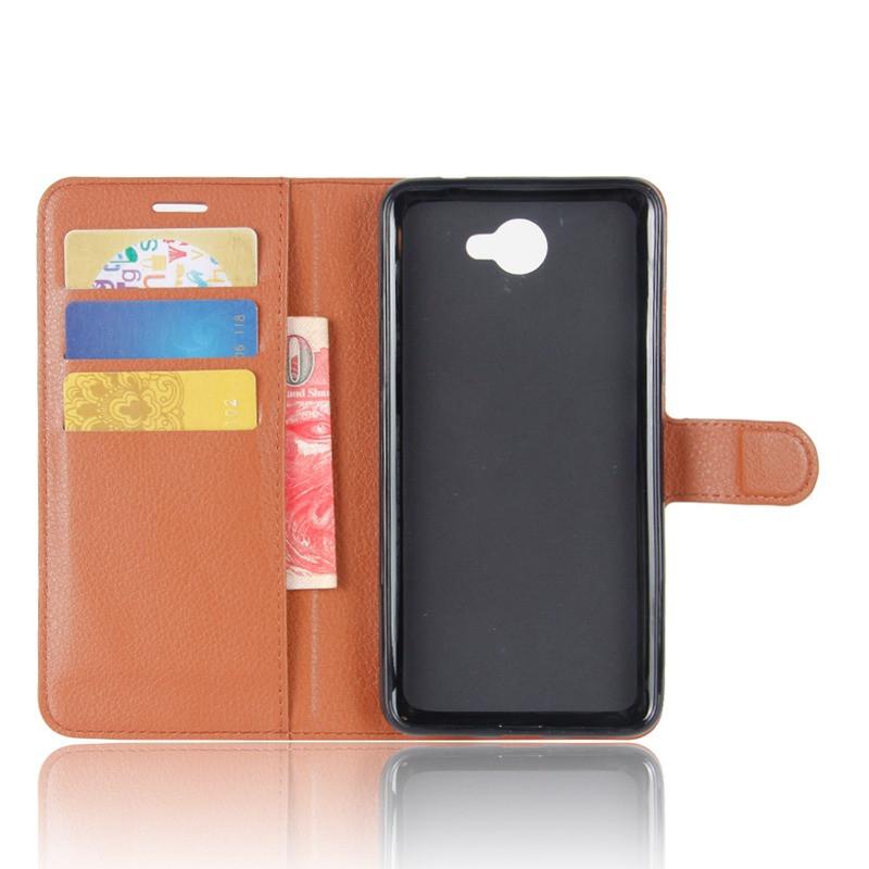 Чехол Huawei Y7 2017 / Nova Lite Plus / Ascend XT2 книжка PU-Кожа коричневый