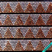 Дизайны из страз на силиконе, декор для одежды Треугольники (11 полос на листе)