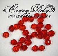 Хрустальные бусины рондели 6*4мм Dark Siam (темно-красные)