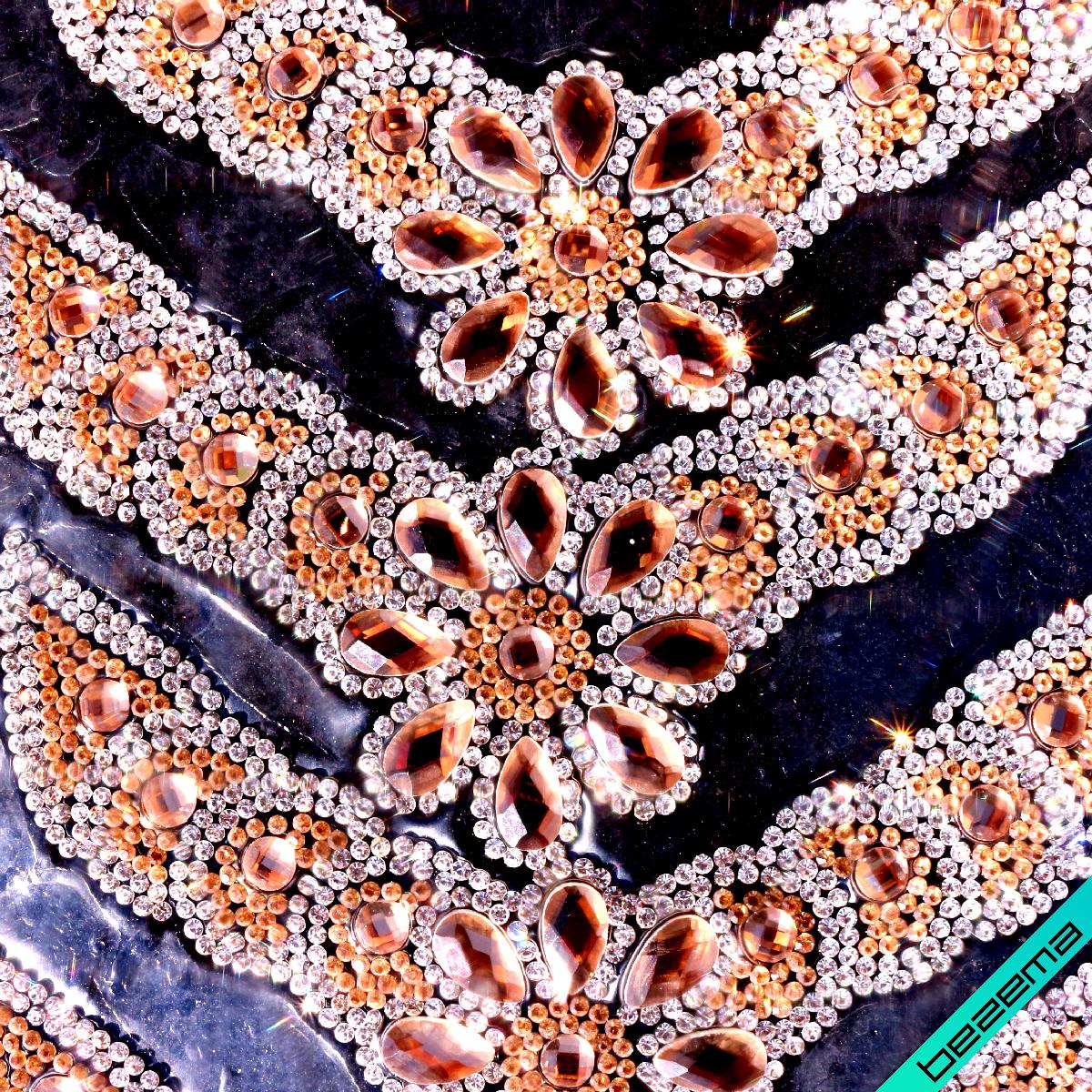 Дизайны из страз на силиконе, декор для одежды Узор