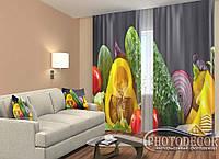 """ФотоШторы """"Овощи"""" 2,5м*2,60м (2 полотна по 1,30м), тесьма"""