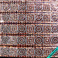 Дизайны из страз на силиконе, декор для одежды Орнамент (7 полос на листе)