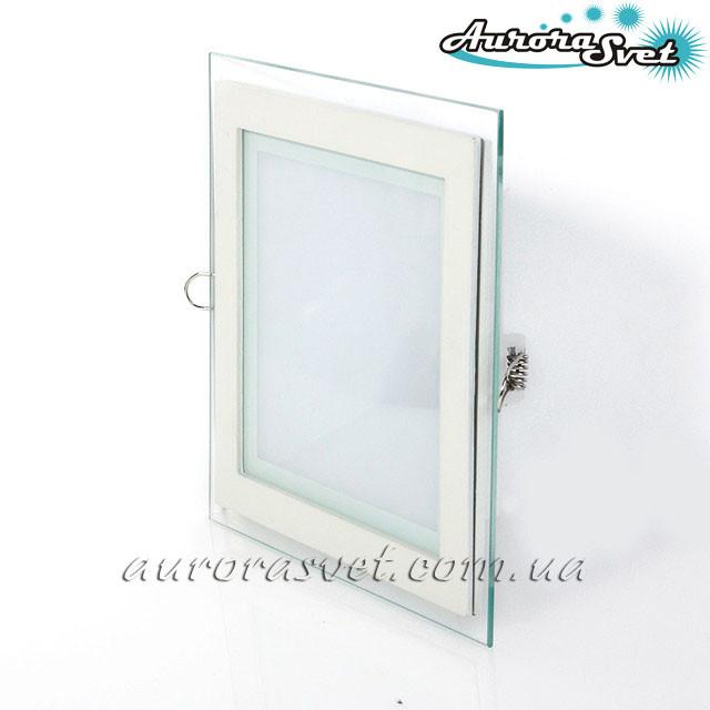 Точечный светодиодный светильник AR2-12W Glass-Квадрат 4000/3000 K (Стекло). LED точечный светильник.