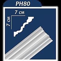 Потолочный плинтус РH 80 ТМ Premium Decor (70*70*2000 мм) (60 шт/уп)