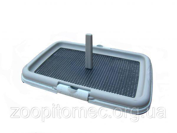 Туалет для собак с столбиком мелких пород и для щенков Stefanplast 60*40*4 см-ТОП