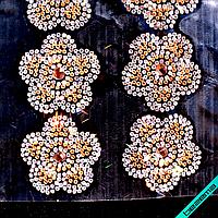Дизайны из страз на силиконе, декор для одежды Цветок (48 шт. на листе)