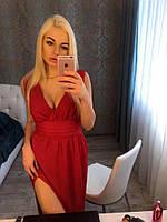 Платье в пол с разрезом шифоновое