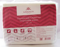 Одноразовые салфетки Monaco Style Disposable Wipes гладкие 30*50 см, 100 шт