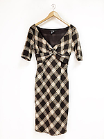 Шерстяное платье в клетку ZARA BASIC