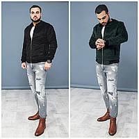 Мужская шерстяная куртка-бомбер №М19 (р.48-54)