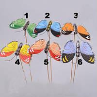 Стикер Бабочка  9,5 см Мелкий декор.