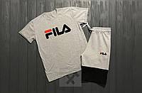 Комплект мужской шорты и футболка Fila