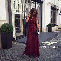 Красивое шифоновое платье в пол